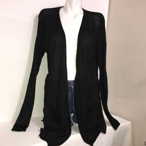Mossimo Black Stretch Rayon Long Cardigan Sweater